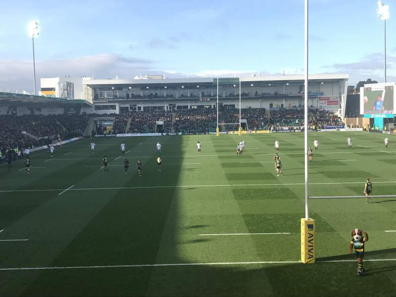 Seating view for Franklin's Gardens Section Elite Insurance Stsnd. Block 1 Row S Seat 407