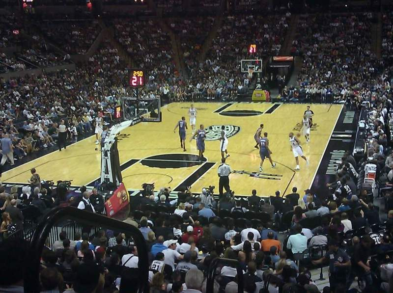 Seating view for AT&T Center Section 113 Row 24 Seat 8