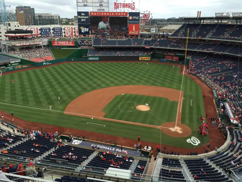 Seating view for Nationals Park Section 409 Row D Seat 3