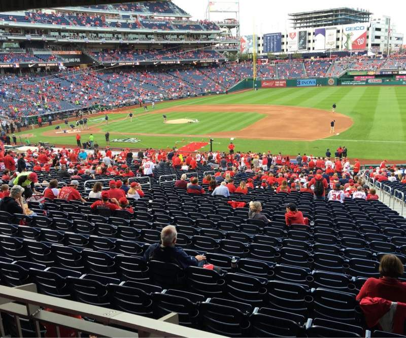 Seating view for Nationals Park Section 131 Row WW Seat 3