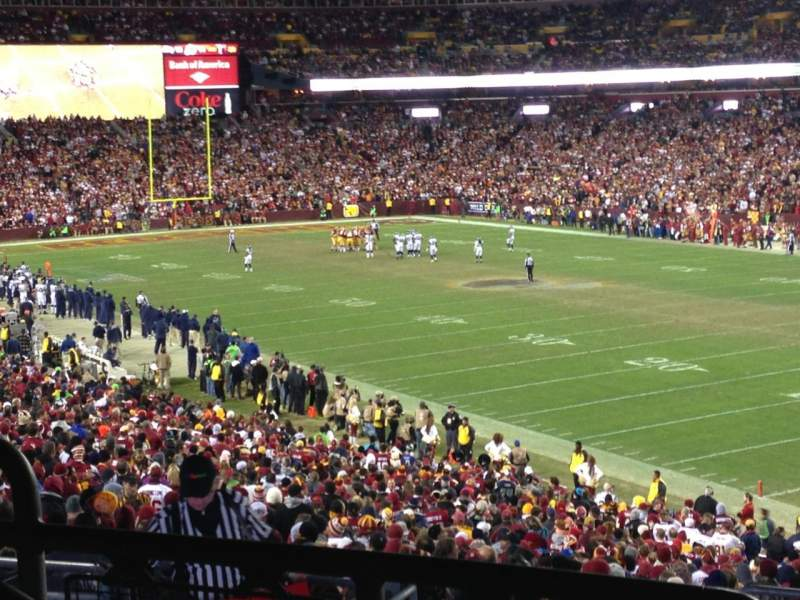 Seating view for FedEx Field Section 215 Row 9 Seat 25