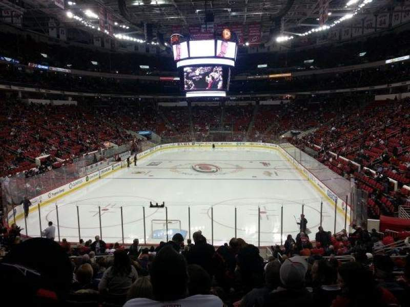 Seating view for PNC Arena Section 126 Row S