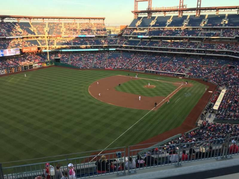 Seating view for Citizens Bank Park Section 434 Row 1 Seat 2