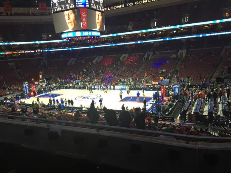 Seating view for Wells Fargo Center Section Club Box 15 Row 3 Seat 15