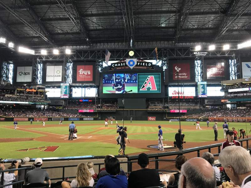 Seating view for Chase Field Section I Row F Seat 7