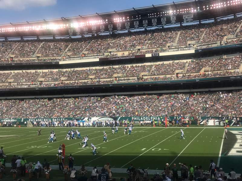 Seating view for Lincoln Financial Field Section 105 Row 20 Seat 18