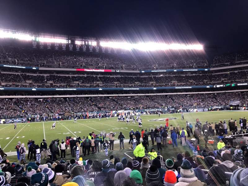 Seating view for Lincoln Financial Field Section 136 Row 11 Seat 5