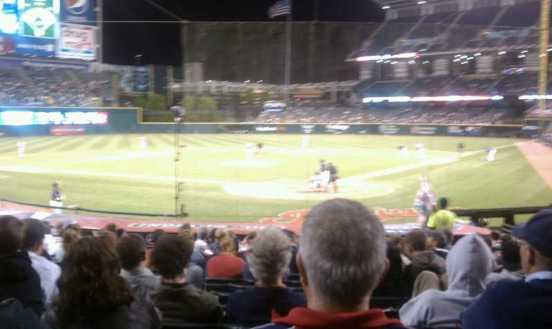 Seating view for Progressive Field Section 155 Row V Seat 5
