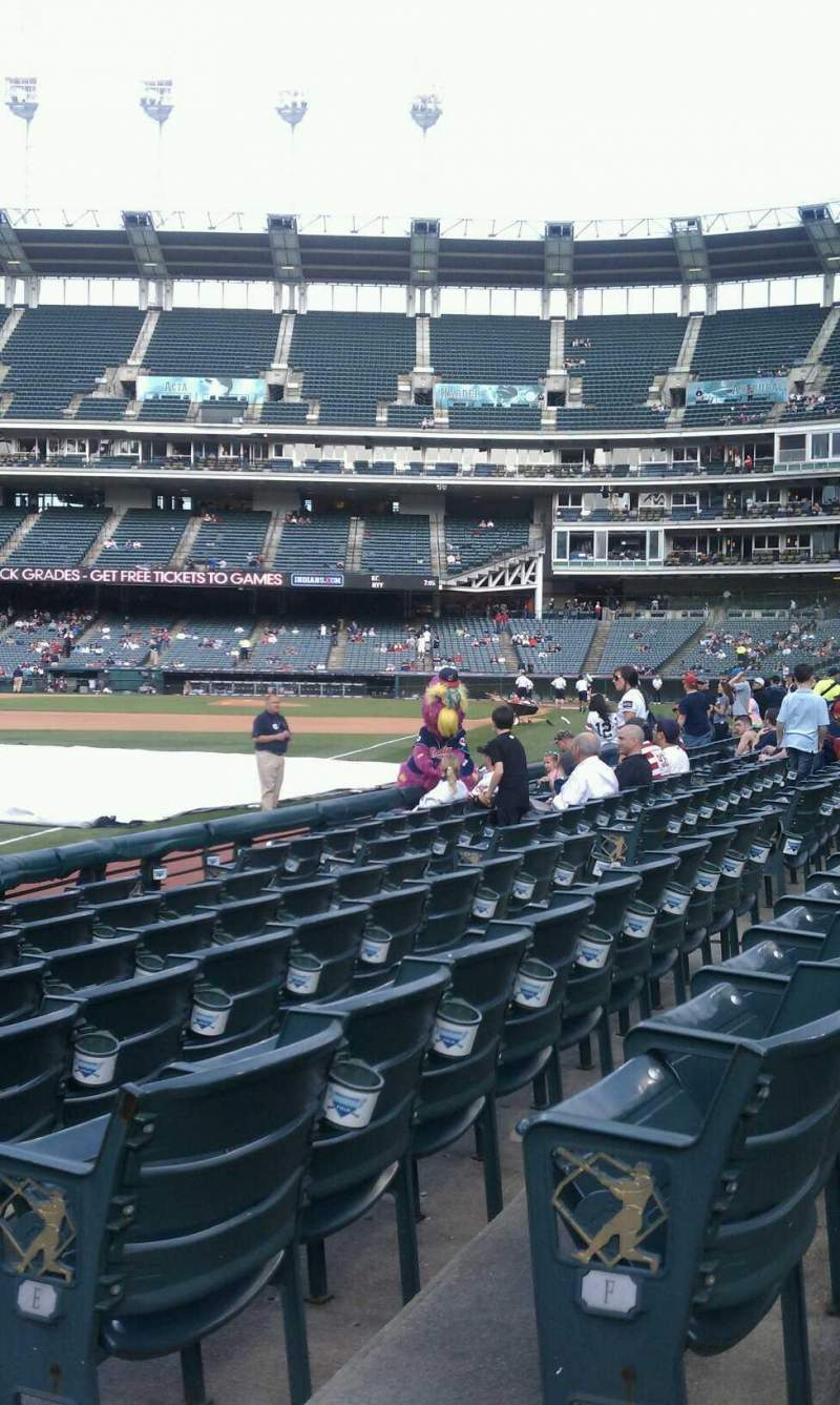 Seating view for Progressive Field Section 175  Row G Seat 2