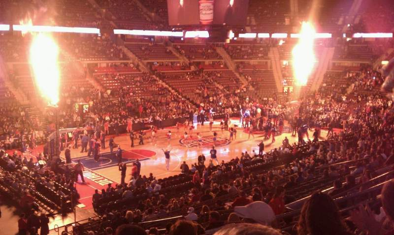 Seating view for The Palace of Auburn Hills Section 103 Row n Seat 13