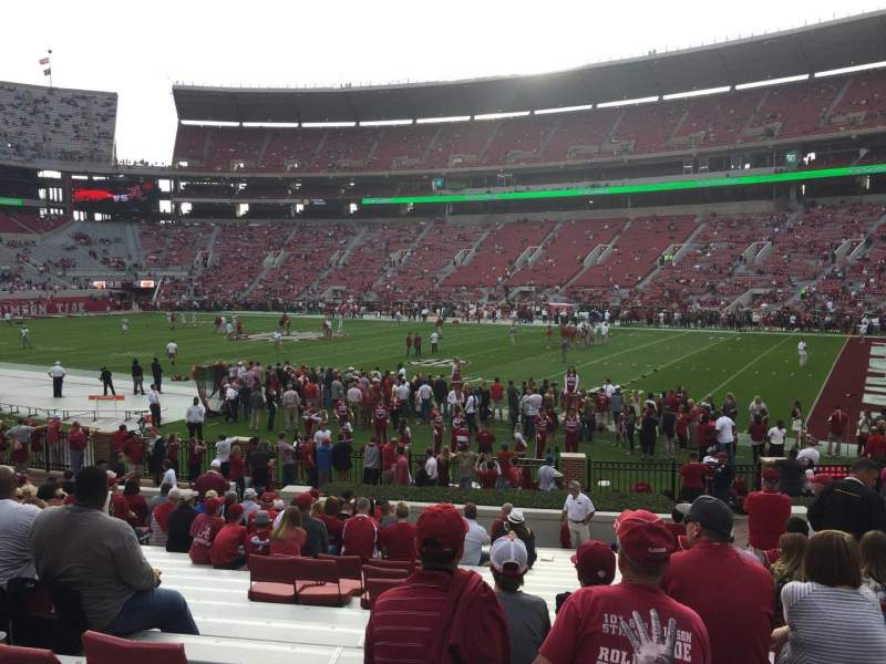 Seating view for Bryant-Denny Stadium Section LL Row 21 Seat 10