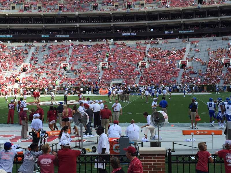 Seating view for Bryant-Denny Stadium Section M Row 4 Seat 12