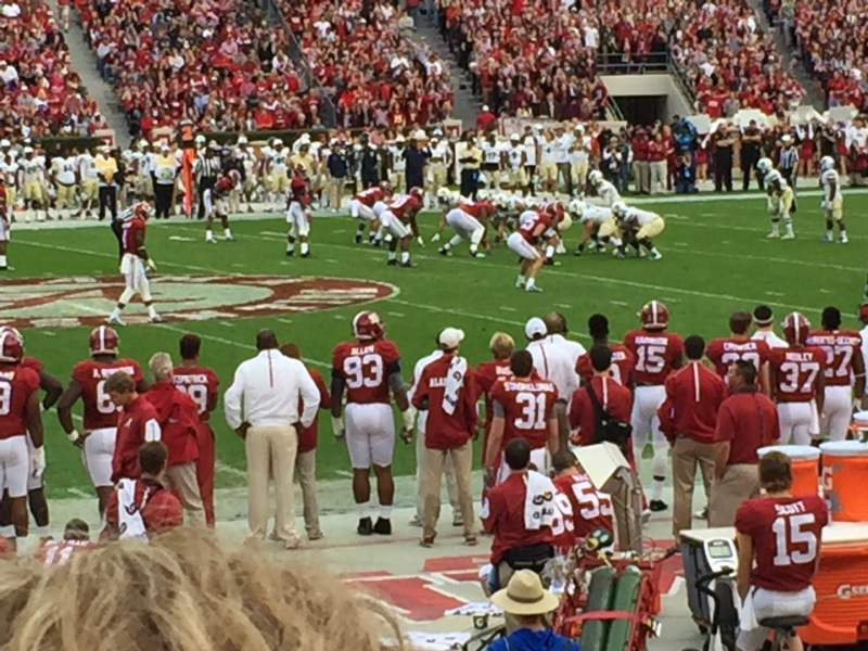 Seating view for Bryant-Denny Stadium Section H Row 14 Seat 20
