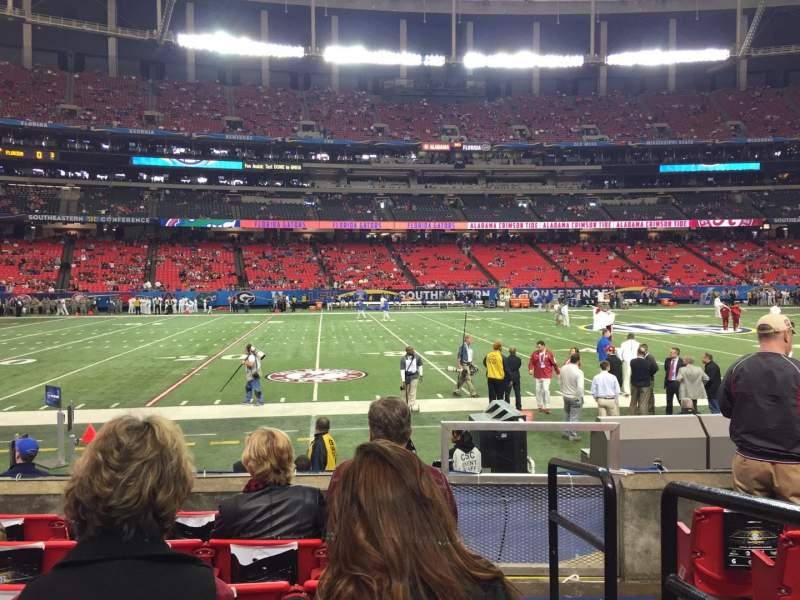 Seating view for Georgia Dome Section 138 Row 6 Seat 19