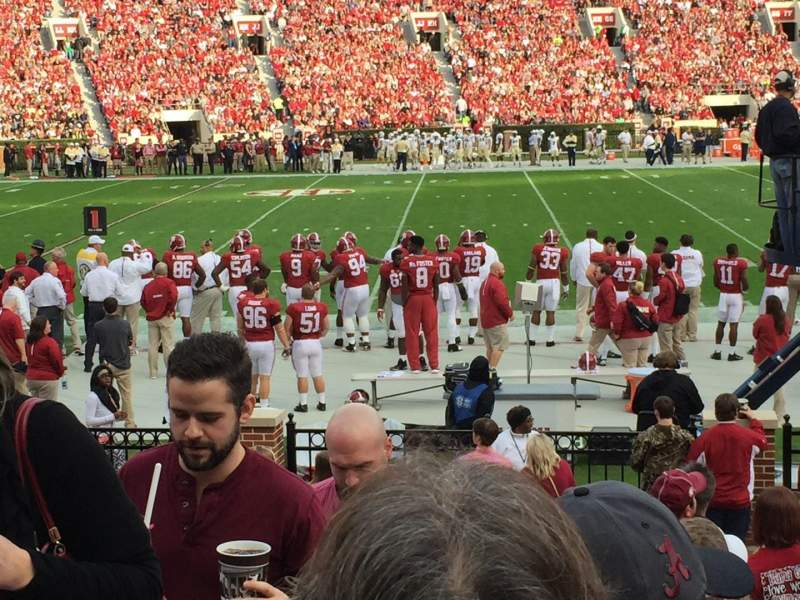 Seating view for Bryant-Denny Stadium Section M Row 9 Seat 20