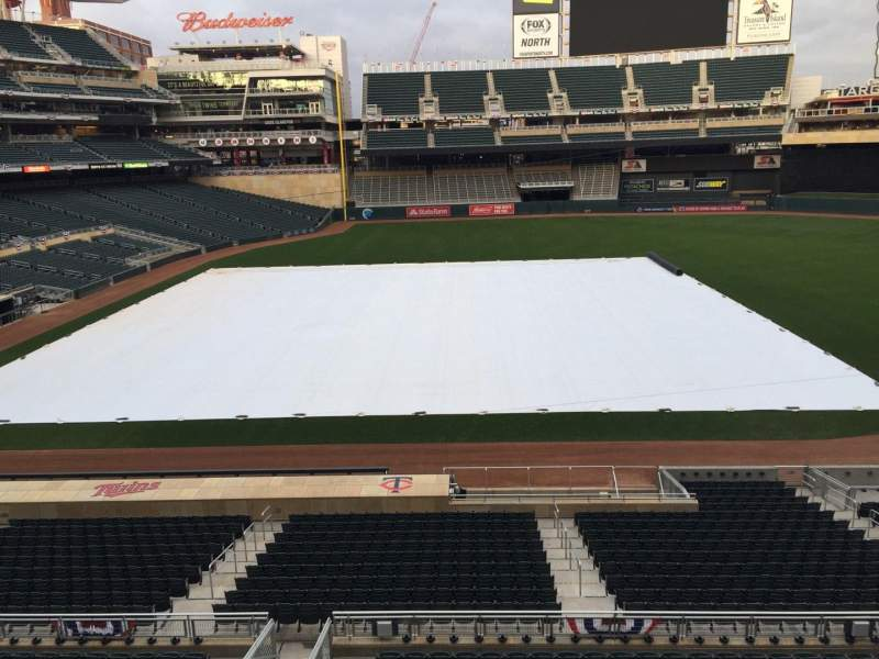 Seating view for Target Field Section B Row 1 Seat 20