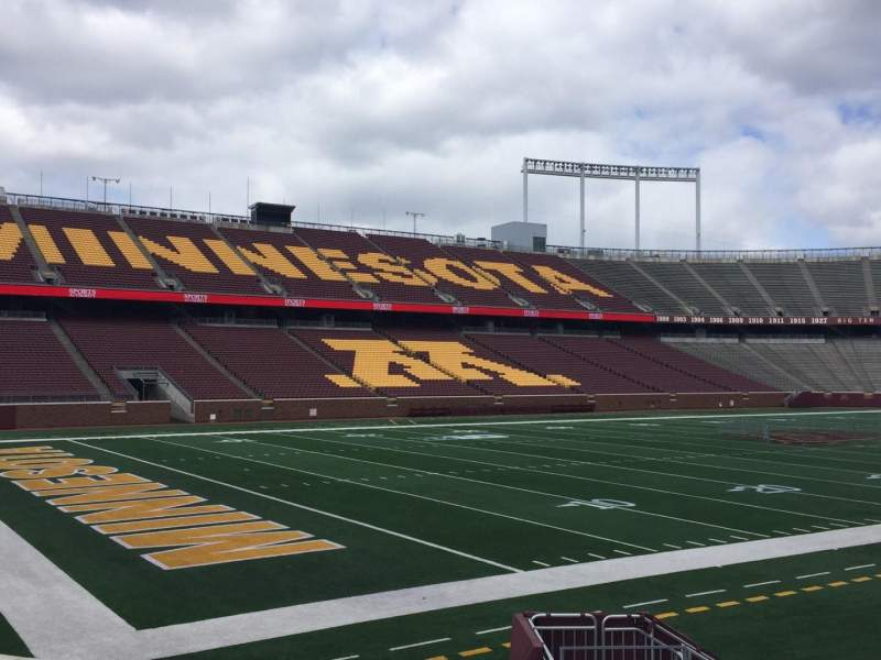 Seating view for TCF Bank Stadium Section 126 Row 10 Seat 16