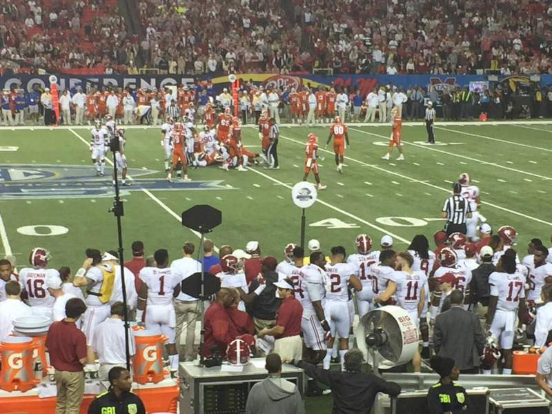 Seating view for Georgia Dome Section 116 Row 15 Seat 14