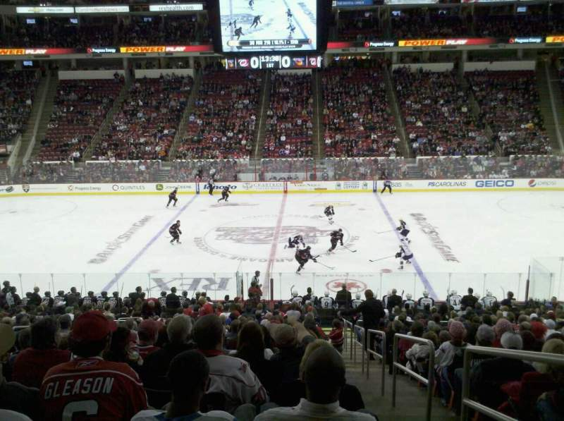 Seating view for PNC Arena Section 104 Row R Seat 1