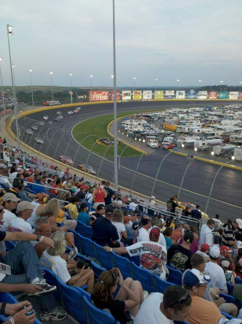 Seating view for Charlotte Motor Speedway Section Toyota M Row 16