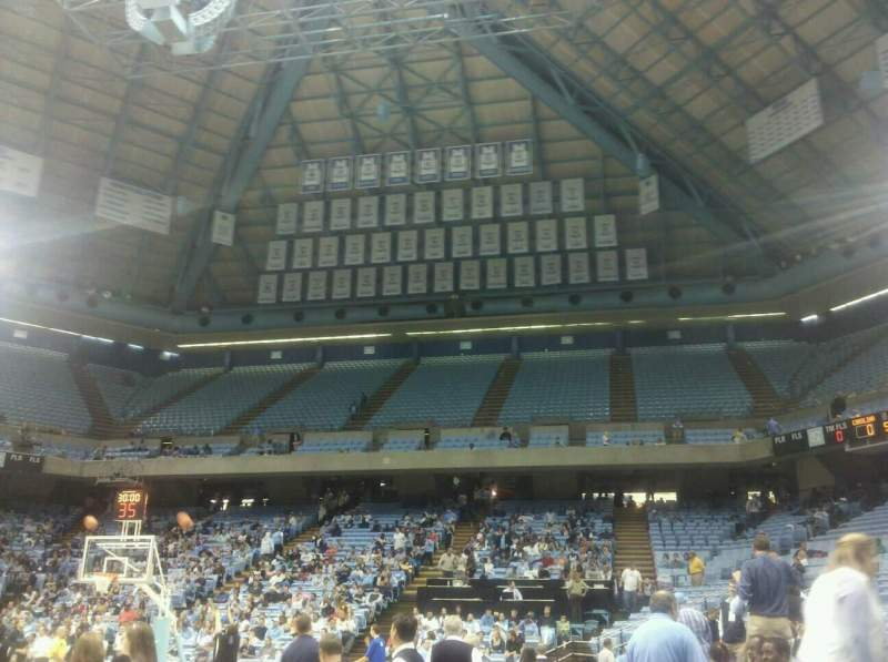 Seating view for Dean E. Smith Center