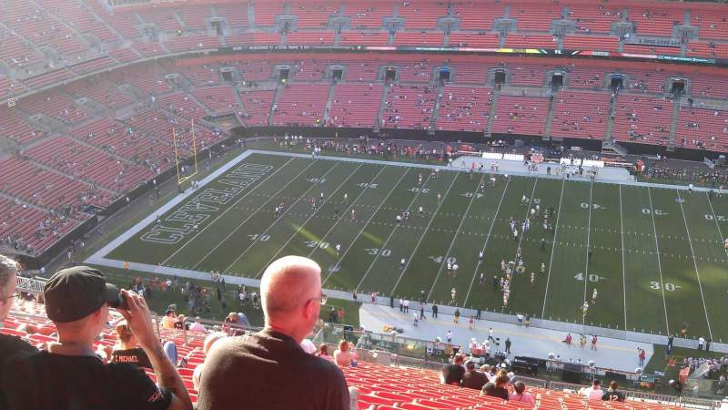 Seating view for FirstEnergy Stadium Section 509 Row 29 Seat 13