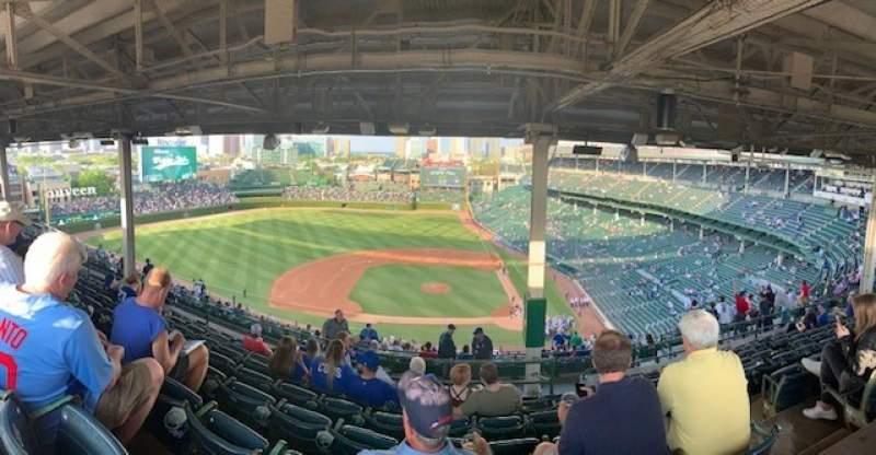 Seating view for Wrigley Field Section 412L Row 9 Seat 20