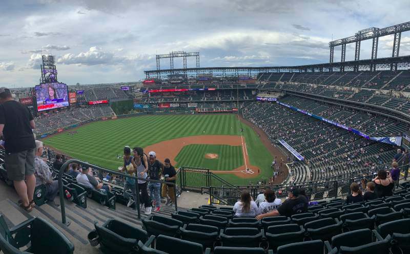 Seating view for Coors Field Section U335 Row 16 Seat 19
