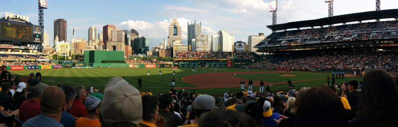 PNC Park, section: 125, row: H, seat: 7