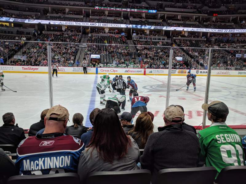 Seating view for Pepsi Center Section 126 Row 5 Seat 14