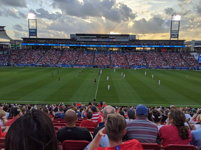 Seating view for Toyota Stadium Section 127 Row 23 Seat 15