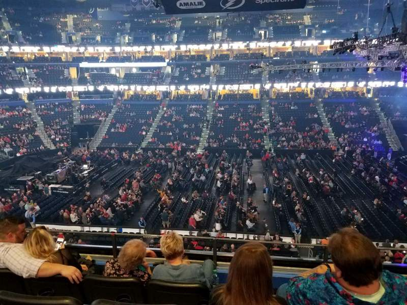 Seating view for Amalie Arena Section 201 Row D Seat 7