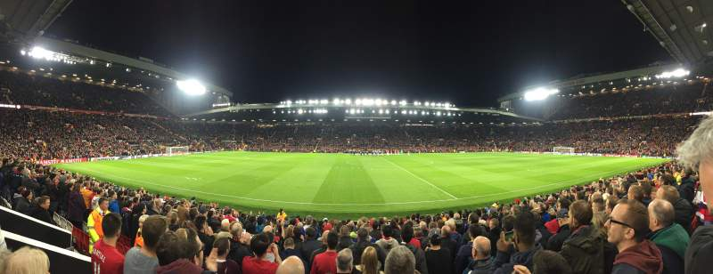 Seating view for Old Trafford Section N1406 Row 1 Seat 173
