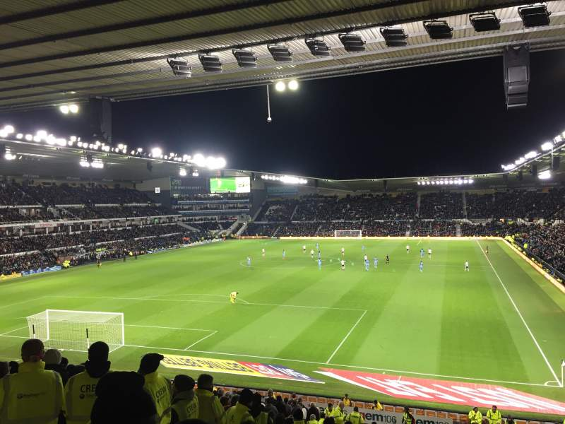 Seating view for Pride Park Section D Row R Seat 630