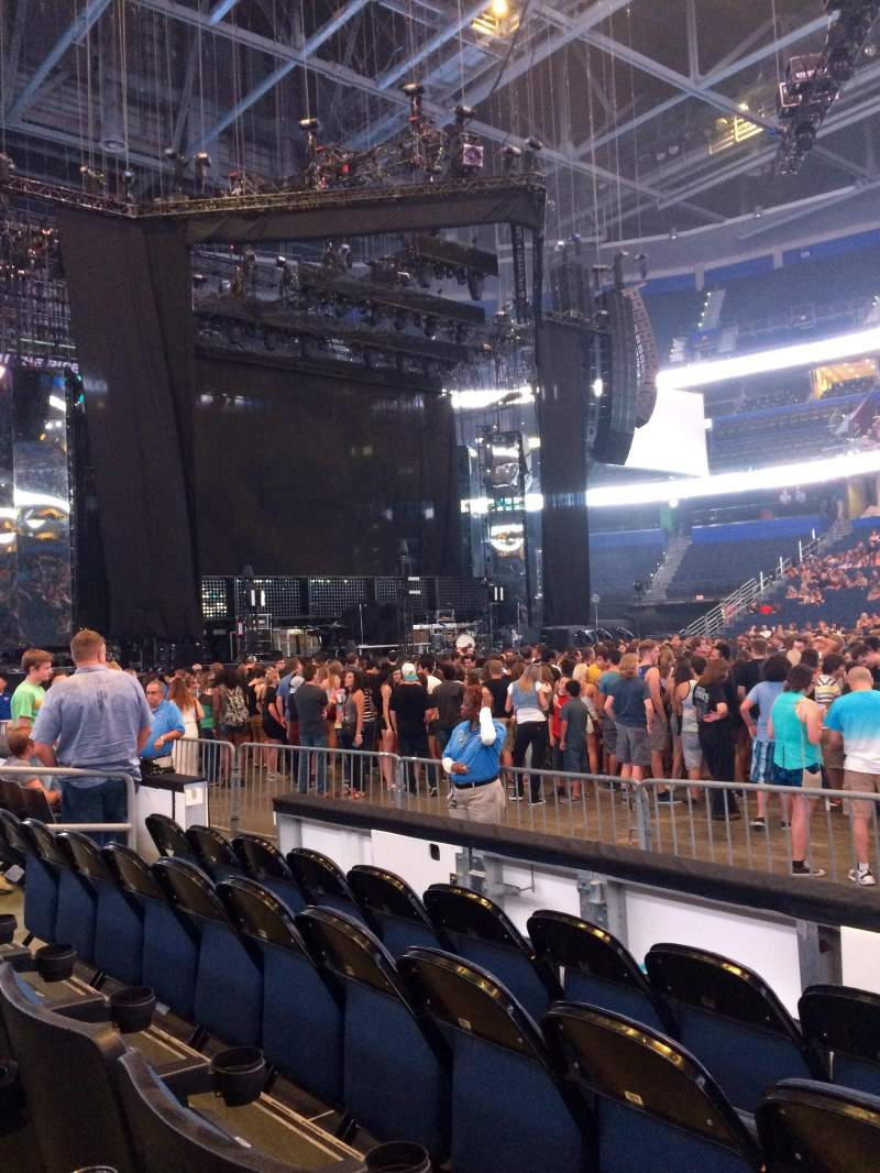 Seating view for Amalie Arena Section 116 Row D Seat 9