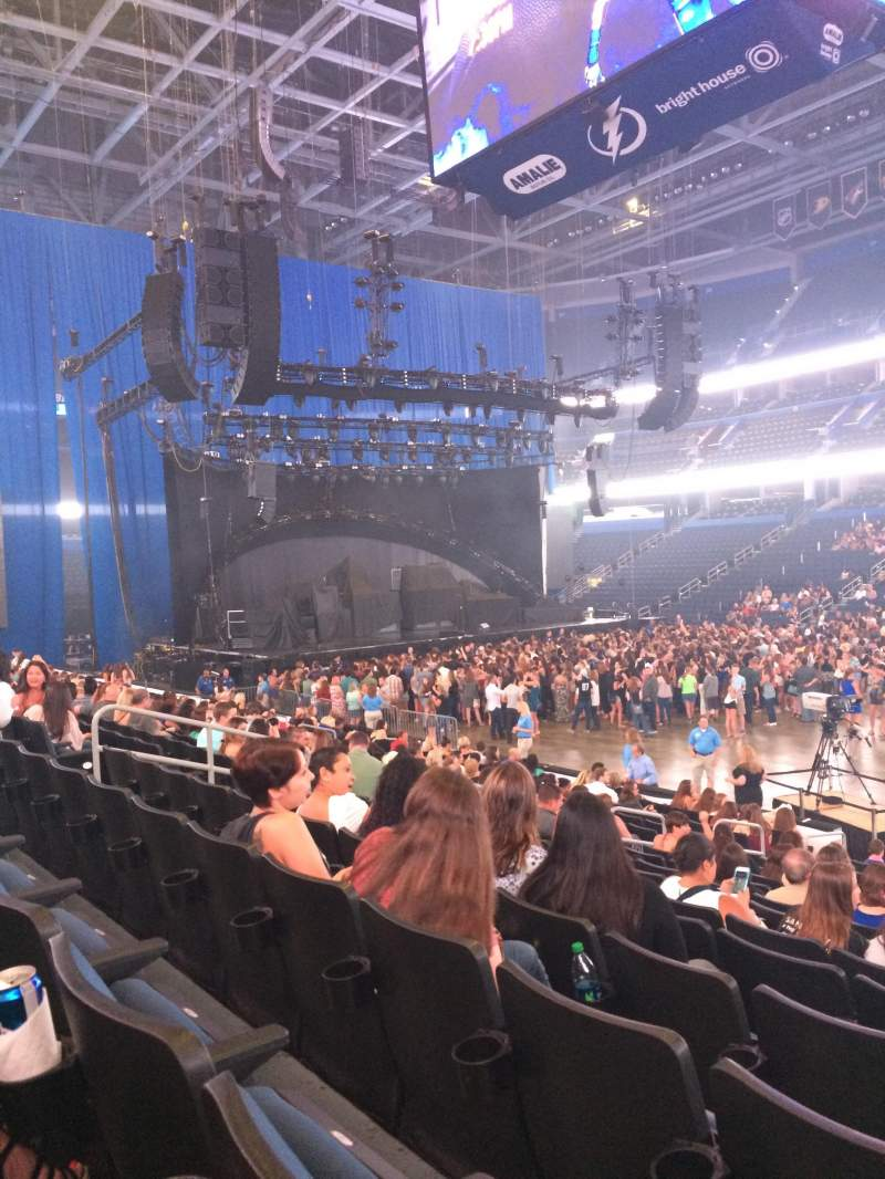 Seating view for Amalie Arena Section 114 Row R Seat 4