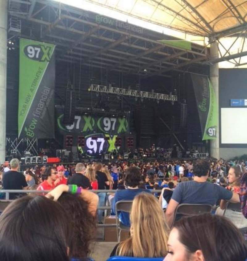 Seating view for MidFlorida Credit Union Amphitheatre Section 8 Row D Seat 34