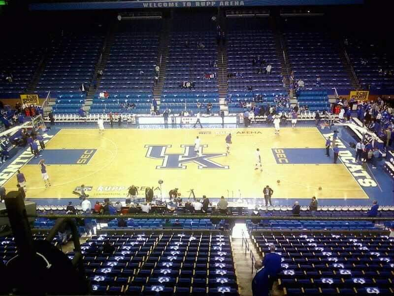Rupp Arena, section: 213, row: 1, seat: 1