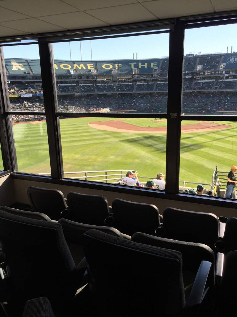 Seating view for Oakland Alameda Coliseum Section Suite 75