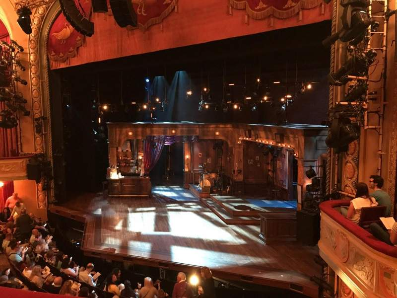 Seating view for Bernard B. Jacobs Theatre Section MEZZ Row B Seat 18