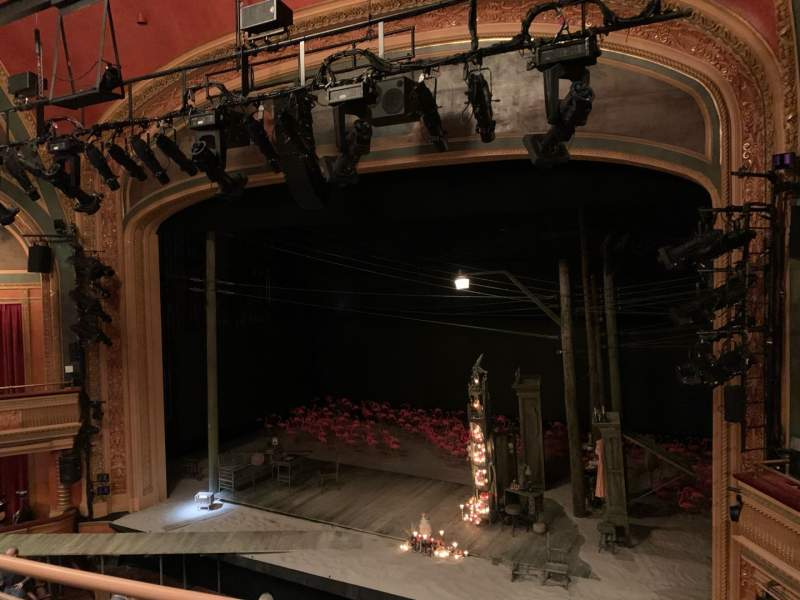 Seating view for American Airlines Theatre Section Front Mezzanine Row B Seat 108
