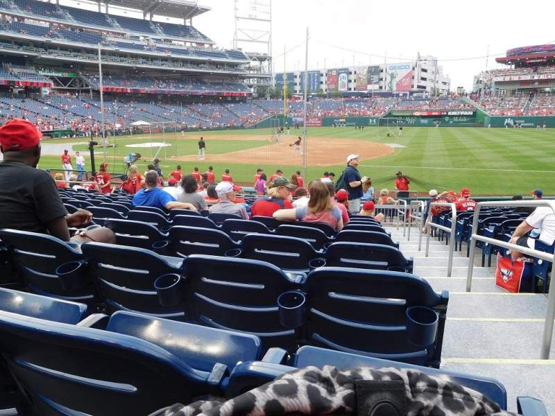 Seating view for Nationals Park Section 131 Row U Seat 1
