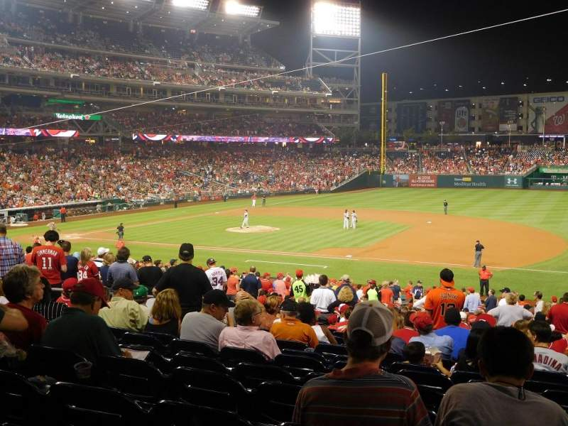Seating view for Nationals Park Section 131 Row RR Seat 7