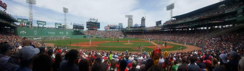 Seating view for fenway park Section loge box 142 Row hh Seat 2