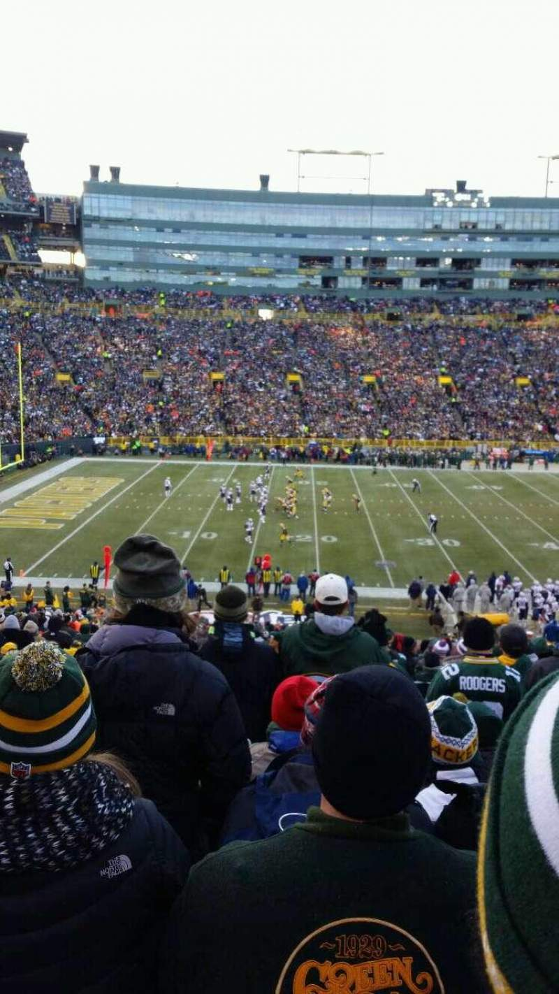 Seating view for Lambeau Field Section 123 Row 49 Seat 22