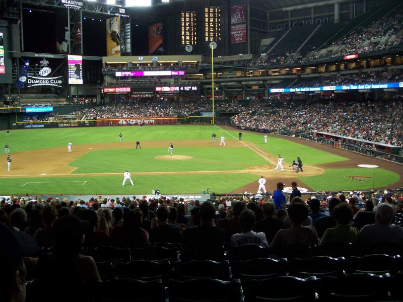 Seating view for Chase Field Section 127 Row 39 Seat 5