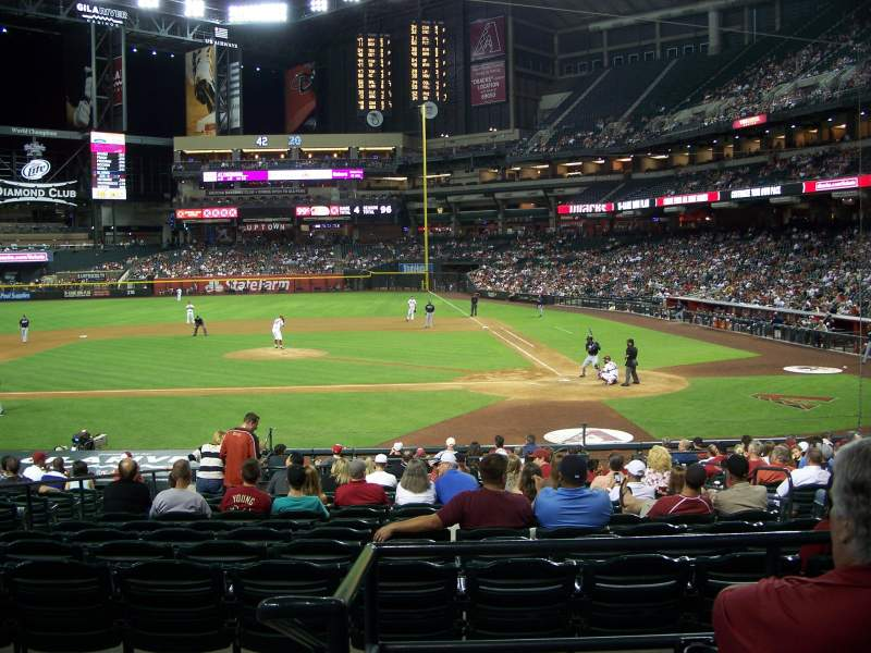 Seating view for Chase Field Section 126 Row 24 Seat 21