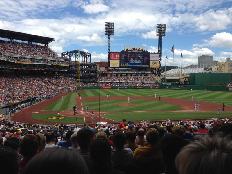 Seating view for PNC Park Section 114 Row Z Seat 3