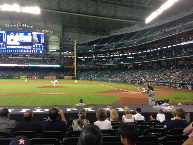 Seating view for Minute Maid Park Section 114 Row 13 Seat 9