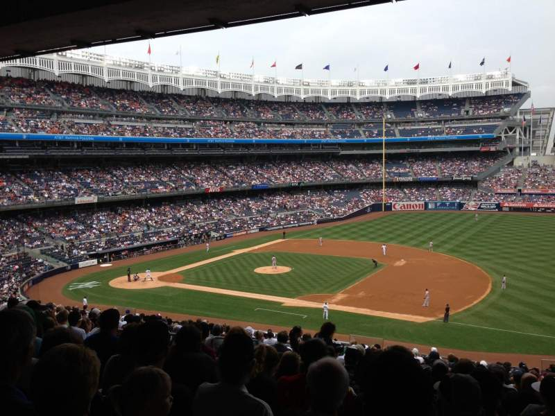 Seating view for Yankee Stadium Section 214A Row 21 Seat 10